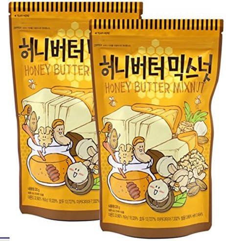 【2個セット】ハニーバターミックスナッツ220gアーモンドカシューナッツクルミマカダミア