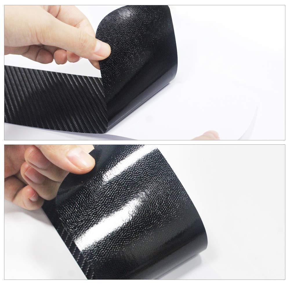 4pcs Carbon Fiber Car Door Sill Scuff Protector Welcome Pedal Protector for Mazda Mazda2 Mazda3 Mazda6 CX-3 CX-5 CX-9