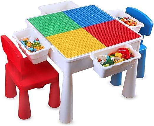 Juego Bloques Construcción Bebé niños Mesa de construcción ...