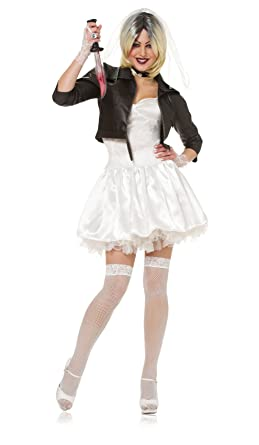 82a9d691f Amazon.com: Costume Culture Women's Licensed Bride Of Chucky Costume:  Clothing