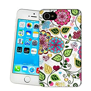 X-Cases Retro Floral Pattern TPU Hard Cover Case iPhone5/5c