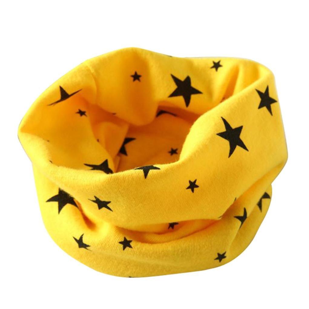 Bufandas del Bebé, Xinan Otoño Invierno Niño Niña Ccollar Algodón Pañuelos (Amarillo) Xinxinshidai