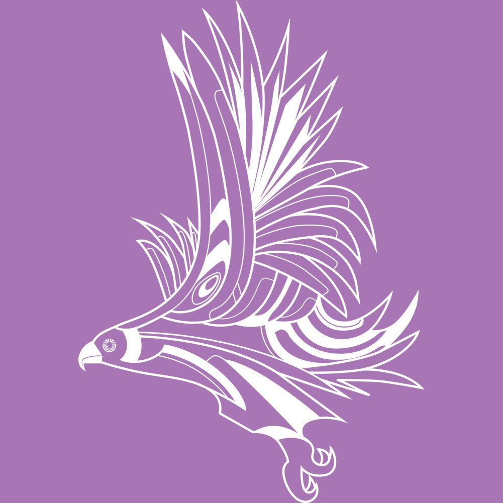Design By Humans Hawk Art Deco 1.5 Girls Youth Graphic T Shirt