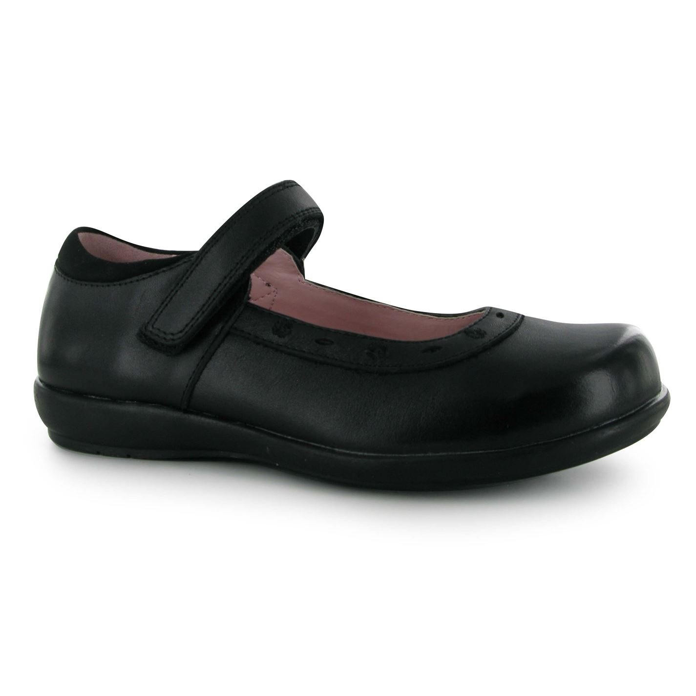 Kangol Kids Tiffin Emb Girls Childrens Flat Ballet Shoes Flats Ballerinas Black UK C13 (32)