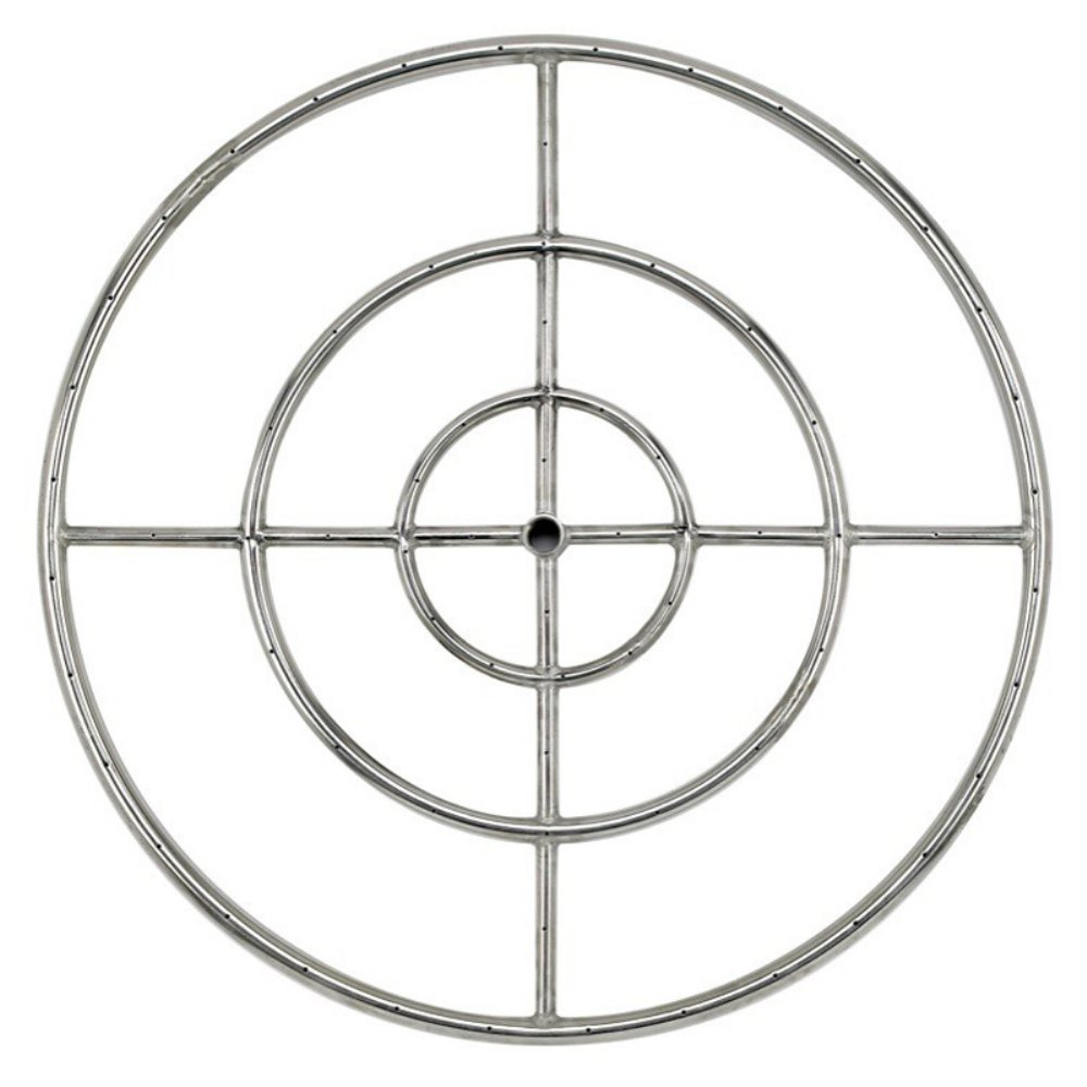 American Fireglass Stainless Steel Fire Pit Burner Ring, 30-Inch