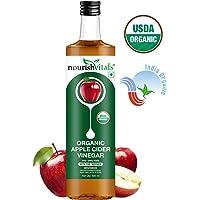 Nourish Vitals USDA Organic Apple Cider Vinegar - Raw, Unfiltered with Mother Vinegar - 500ml
