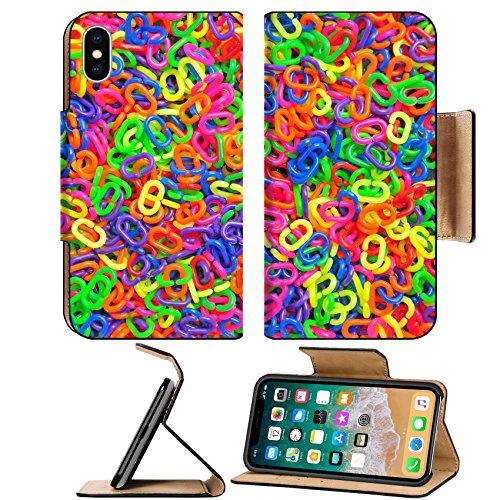 Luxlady Premium Apple iPhone X Flip Pu Leather Wallet Case IMAGE ID 31578775 Colorful plastic chain for background