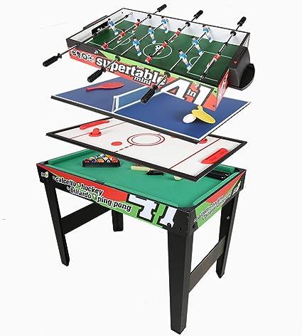 homelikesport Mesa Multijuegos 4 en 1 para Fútbol Ping Pong Honkey ...