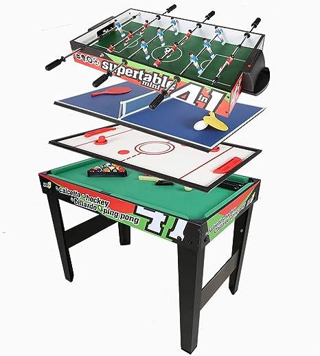 homelikesport Mesa Multijuegos 4 en 1 para Fútbol Ping Pong Honkey Billar: Amazon.es: Deportes y aire libre