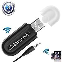 USB Receptor Bluetooth 4.0 Audio Adaptador de Música Inalámbrico y Manos Libres Kits de Coche de Llamada con Salida Estéreo DE 3,5 mm para Casa y Sistema de Audio Estéreo de Coche