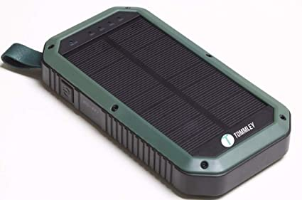 new style 18143 40659 Tommley Solar Charger, 8000mAh, 3 Port USB 21 LED Lights Waterproof  Portable Power Bank (Green)