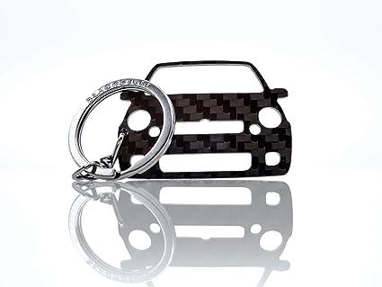 BlackStuff Llavero De Fibra De Carbono Cadena De Claves Compatible con Lupo GTI BS-167