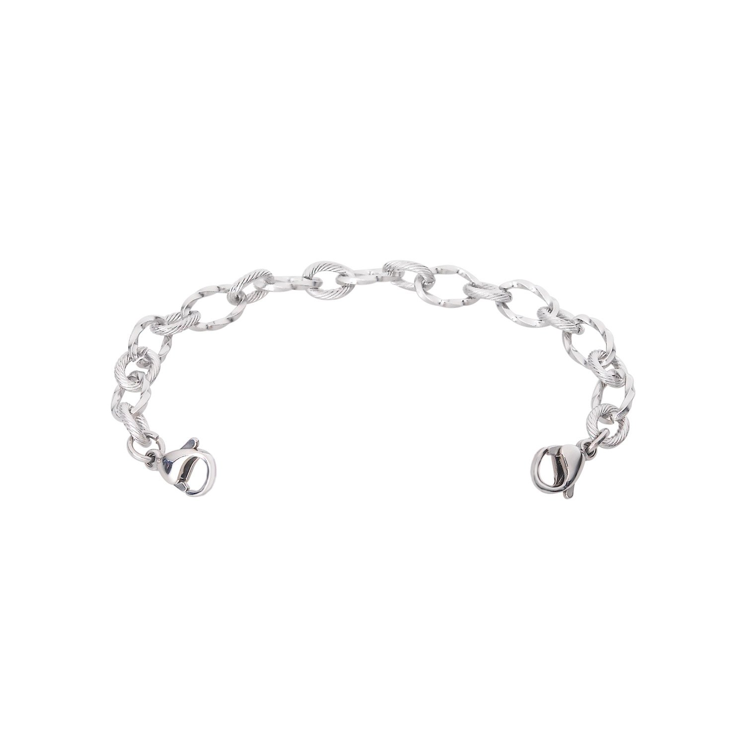 Divoti Ridged Stainless Medical Alert Replacement Bracelet -5.5''