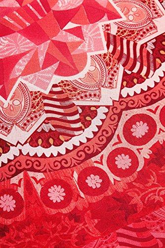 Vest Damen Kurzes 18SWVWXA Desigual Kleid India Rot tpw400qnxF