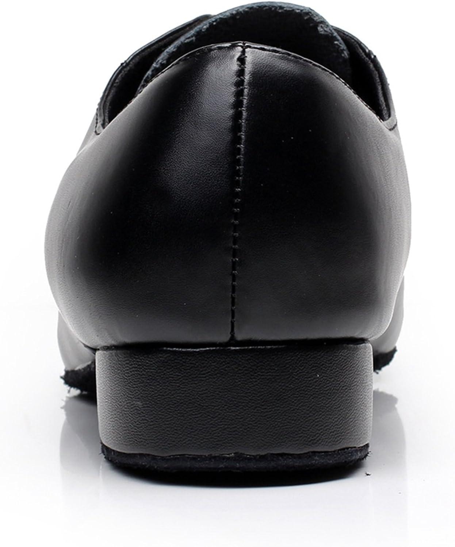 MINITOO GQJ9013 Chaussures de Danse Latine pour Homme en Cuir /à Lacets