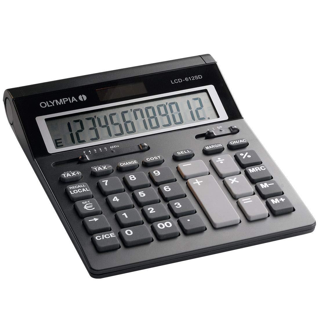 Olympia – Calculadora de mesa LCD 612 Euro: Amazon.es: Oficina y ...