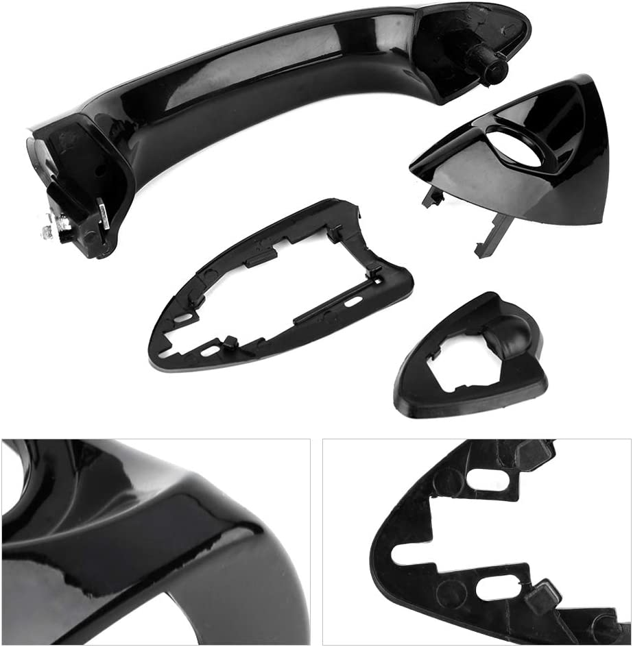 Exterior Door Handle 51218257737,ABS Plastic Material Driver Side Front Left Outside Exterior Door Handle Fit for E53 X5 2000-2006