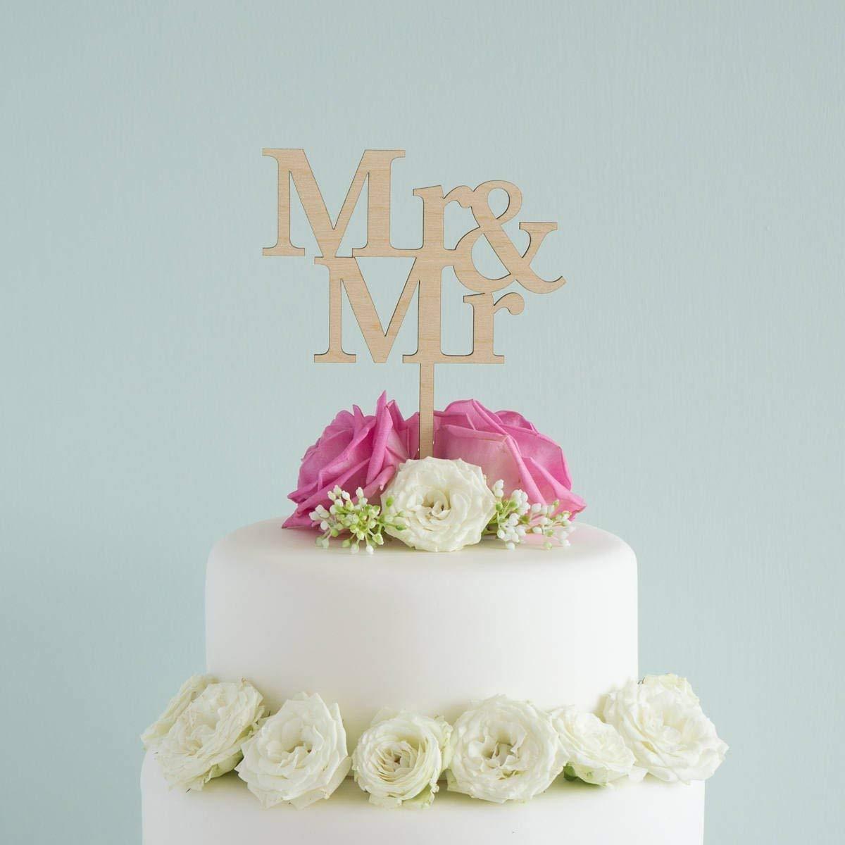Mr And Mr Wedding Cake Topper Lgbtq Gay Civil Partnership Cake Decoration Engagement Party Decor Amazon Co Uk Handmade