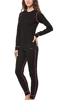 CFLEX - Set de ropa térmica y para esquí para mujer - Camiseta y pantalón -