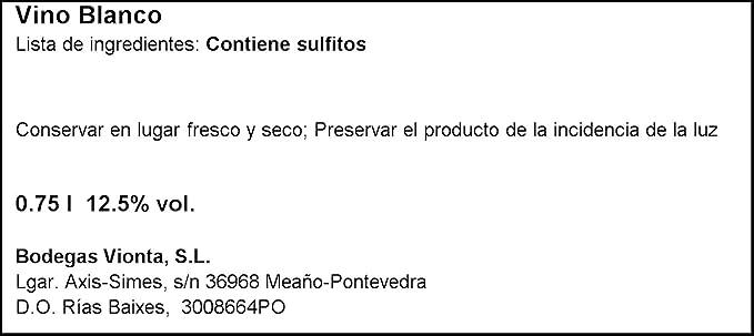 Depende botella 75 cl. (denominación de origen rías baixas): Amazon.es: Alimentación y bebidas