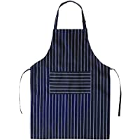 Apron for Men Women Striped - BBQ Aprons with Pockets Adjustable Kitchen Chef Apron Waterdrop Resistant Bib Aprons for Restaurant Waitress Waiter Gardener by BOHARERS