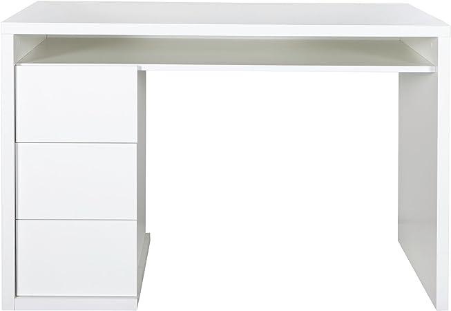 Alinea Moneta Bureau Laque Blanc Avec 3 Tiroirs Amazon Fr Cuisine Maison