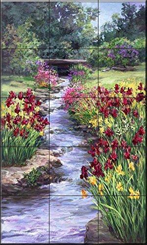 Ceramic Tile Mural - Fiesta Garden LSH- by Laurie Snow Hein - Kitchen backsplash/Bathroom - Laurie Snow