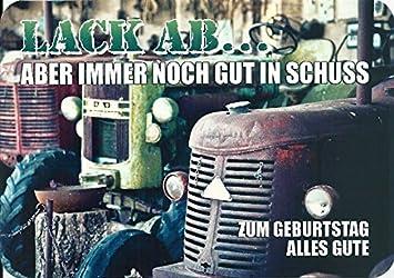 Gluckwunschkarte Alte Traktoren Lack Ab Zum Geburtstag Amazon De