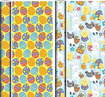 4m happy easter gift wrapping paper roll 2 x 2m bunny chicks 4m happy easter gift wrapping paper roll 2 x 2m bunny chicks negle Image collections