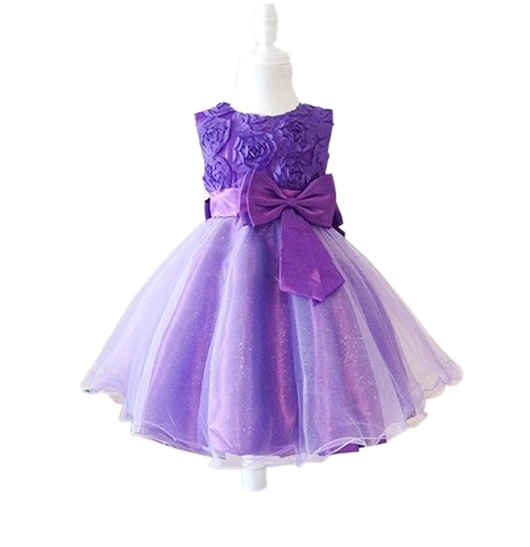 Vimans? Purple Sleeveless Flower Girl Bridesmaid Dress for Wedding, Child 2