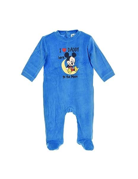 Mickey Mouse - Pelele para dormir - para bebé niño Bleu foncé 18 meses