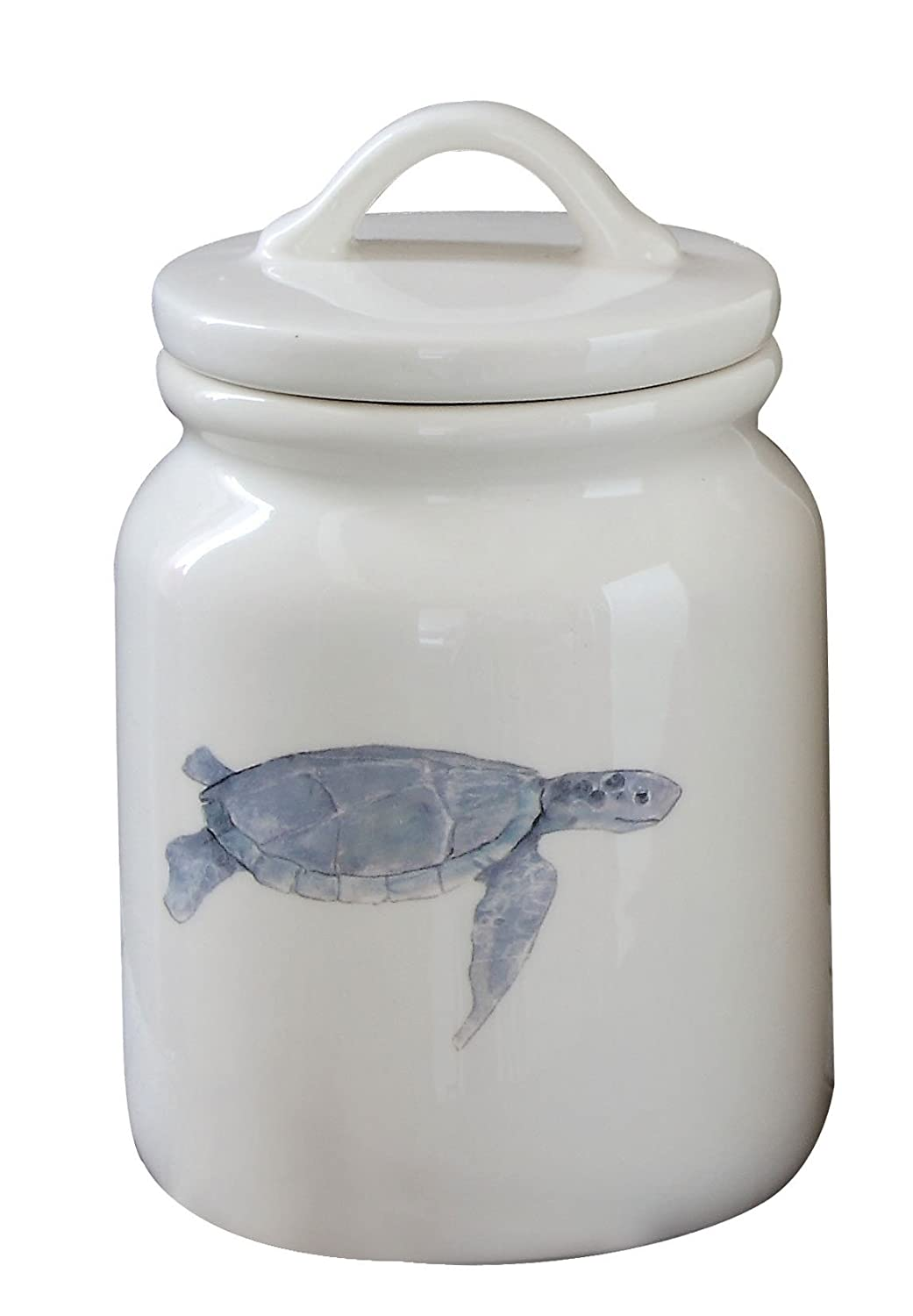 amazon com creative co op dolomite canister with sea turtle image amazon com creative co op dolomite canister with sea turtle image and lid 6 5 inch kitchen dining