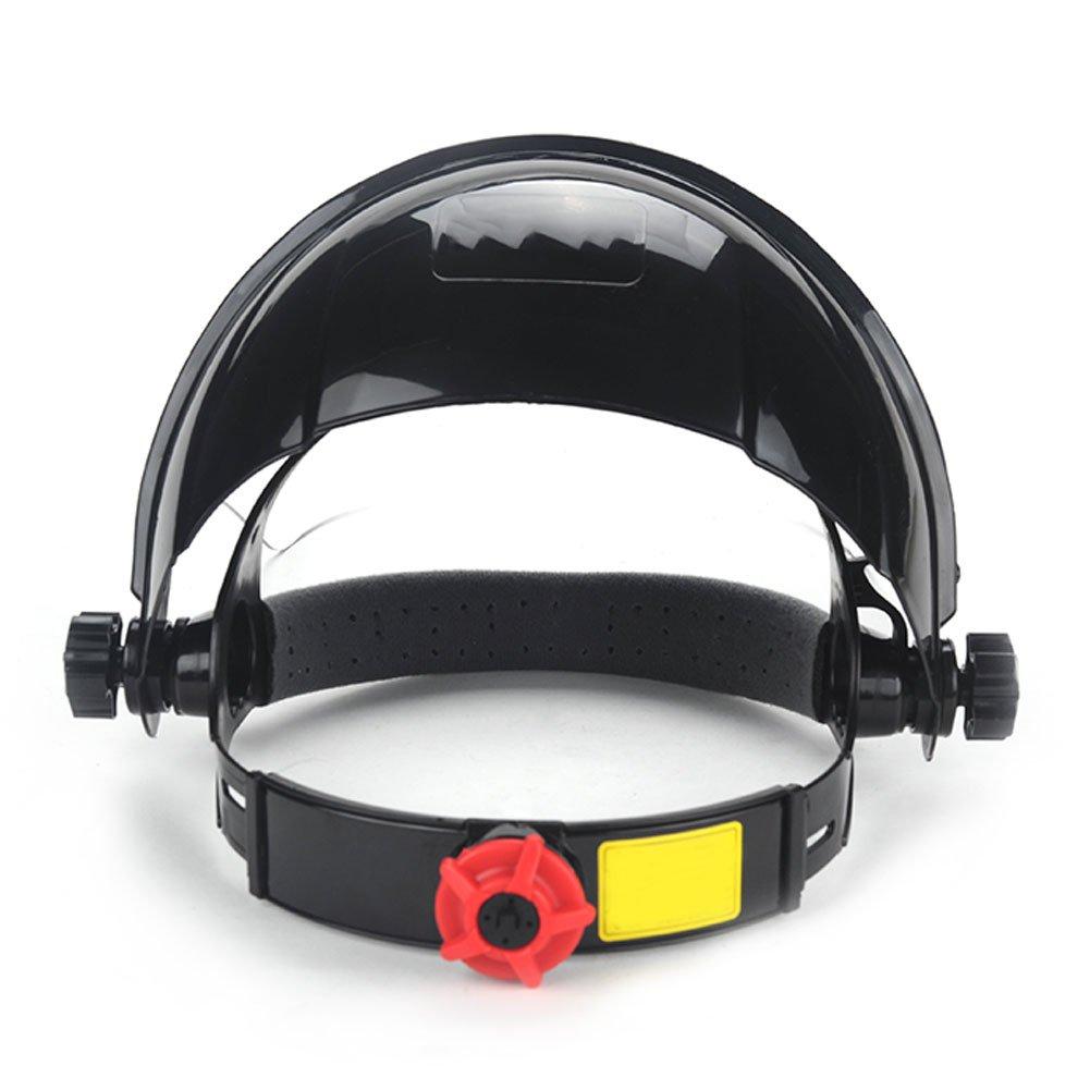 Casco de soldadura Lente transparente Anti-UV Anti-choque Casco de soldadura Protector facial M/áscara de soldadura Protector de ojos para alta temperatura de operaci/ón de soldadura transparente