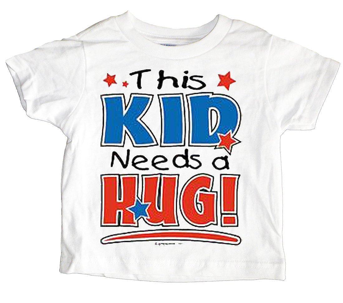 Custom Kids This Kid Needs A Hug Toddler T-Shirt U.S