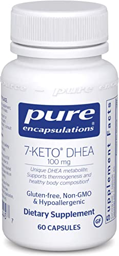Pure Encapsulations – 7-Keto DHEA 100 mg – Unique DHEA Metabolite to Support Thermogenesis and Healthy Body Composition – 60 Capsules