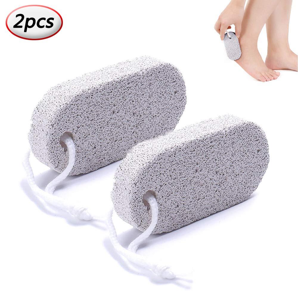 Pumice Stone Foot Clean Scrubber Hard Skin Callus Remover Scrub Pumice Lava Stone Foot Care Tool (2pcs) Runola