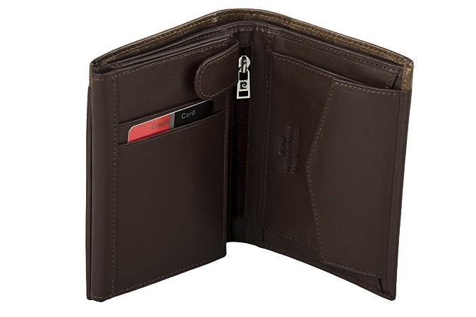 65e8201da79 Cartera hombre vertical PIERRE CARDIN marrón en cuero con monedero A4938   Amazon.es  Zapatos y complementos