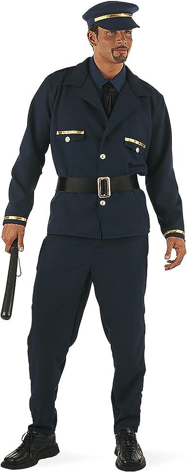 Striptease Policía Party Fun – Disfraz Hombre 2 in1 Disfraz 7 Piezas Camisa Pantalón Largo Pantalón Corto Tapa Gã ¼ Rtel Chaqueta Cuello Corbata Negro X-Large: Amazon.es: Ropa y accesorios