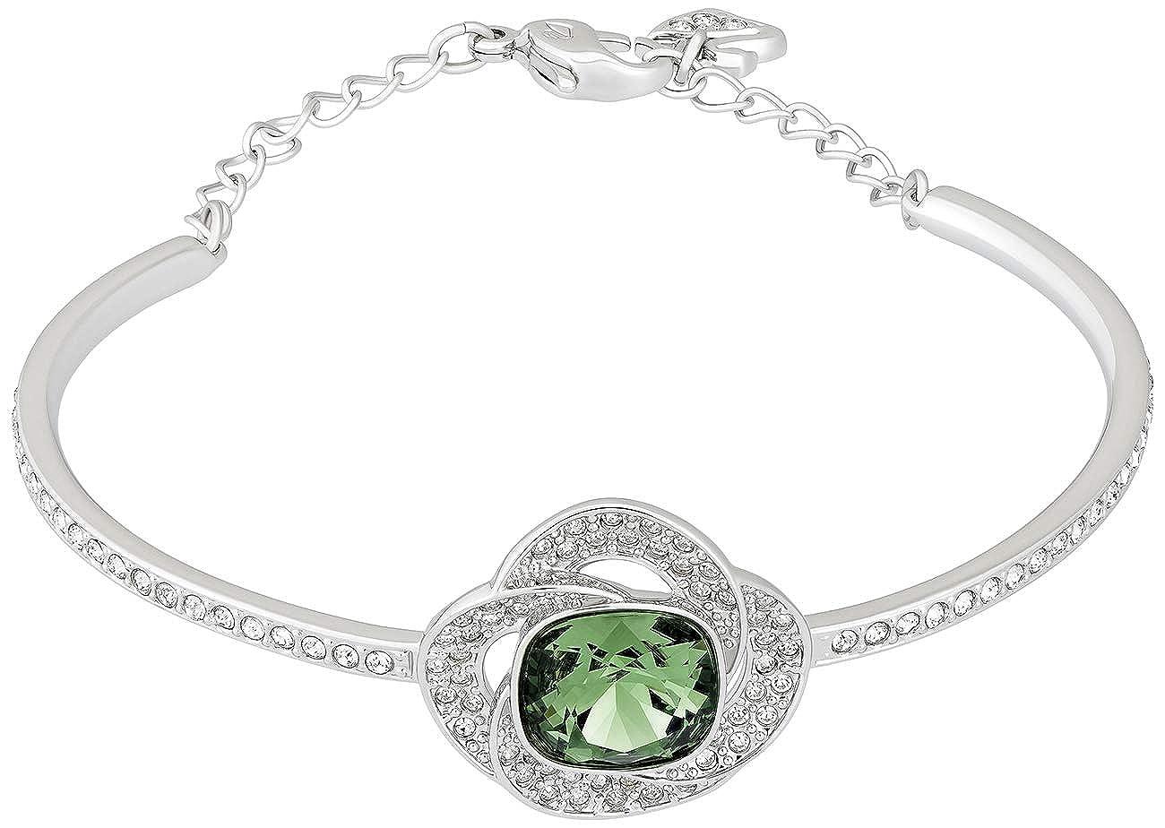 Amazon.com  Swarovski Agility 5037963 Green Emerald w  Clear Crystals Half Bangle  Bracelet  Jewelry c2cf694c73