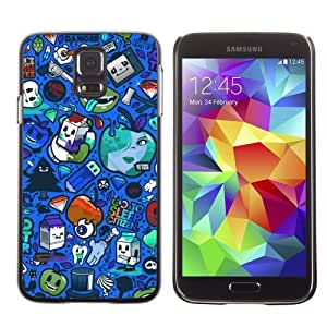 Designer Depo Hard Protection Case for Samsung Galaxy S5 / Colorful Graffiti Pattern