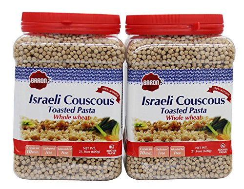 Israeli Toasted Pasta (Baron's Kosher Whole Wheat Israeli Couscous Toasted Pasta 21.16-ounce Jar (Pack of 2))