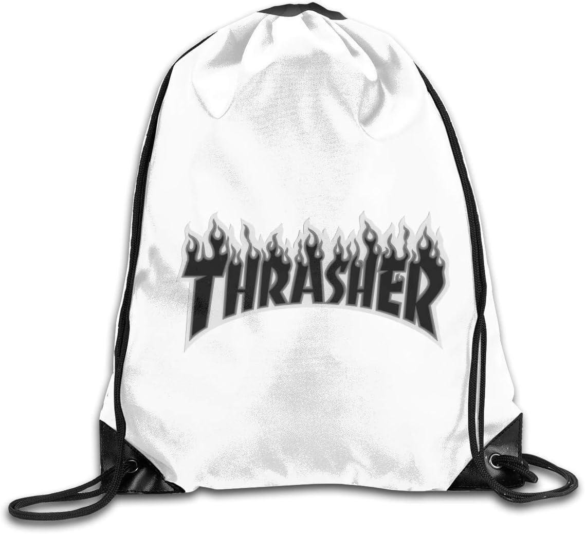 Thrasher Flame Drawstring Bags Eat Sleep Dance Repeat Beam Mouth Backpack Basketball Tennis Gympack