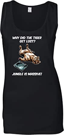 Tim And Ted Music Genre Womens Vest Why Did The Tiger Get Lost Joke