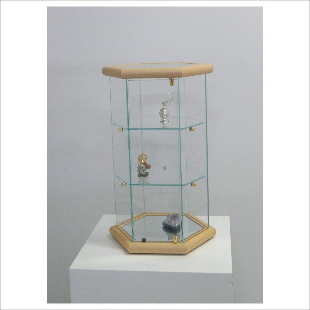 SMALL DISPLAY CASE VM113T (DARK WOOD) VM ART DESIGN GLASS