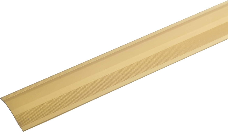 acerto 51053 Perfil de ajuste de altura de aluminio 135cm plateado perfil de transici/ón para laminado parquet y moqueta autoadhesivo 2-16mm list/ón de transici/ón perfil para suelo