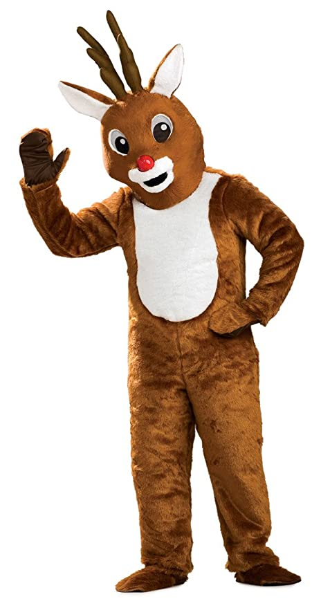 sc 1 st  Amazon.com & Amazon.com: Rubieu0027s Reindeer Mascot Costume Brown One Size: Clothing