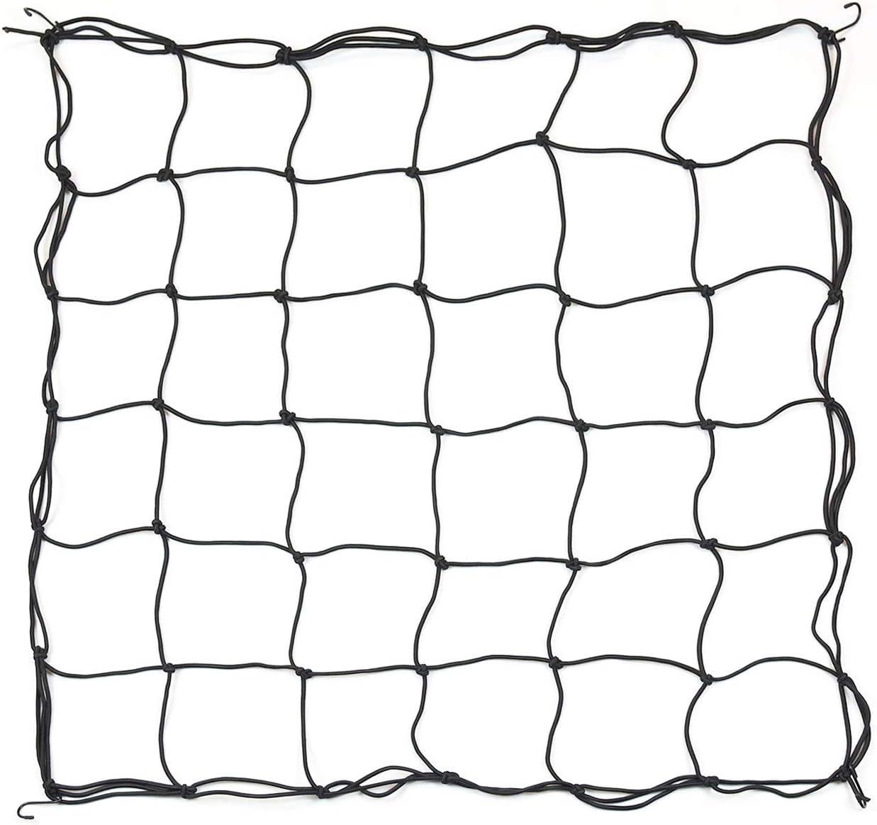 Elastic Grow Net, Trellis Netting for 4x4 5x5 4x2 Grow Tents Flexible net Trellis with 8 Metal Hooks and 36 Grow Grids