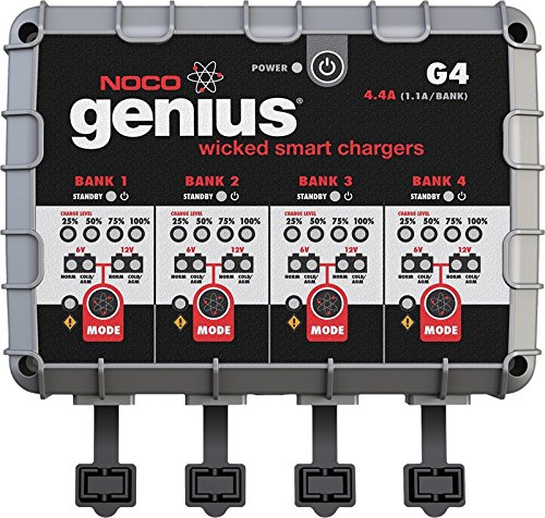 Noco Genius G4 6V 12V 4 4A 4 Bank Ultrasafe Smart Battery Charger