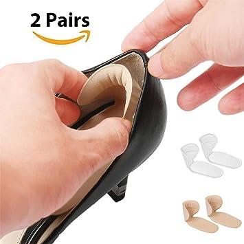 Faneli Fersenhalter (2 Paar) Fersenpolster Antislip, Fersenkissen Fersenschutz und für Schmerzlinderung, Schuheinlagen aus Gel Fersenpolster