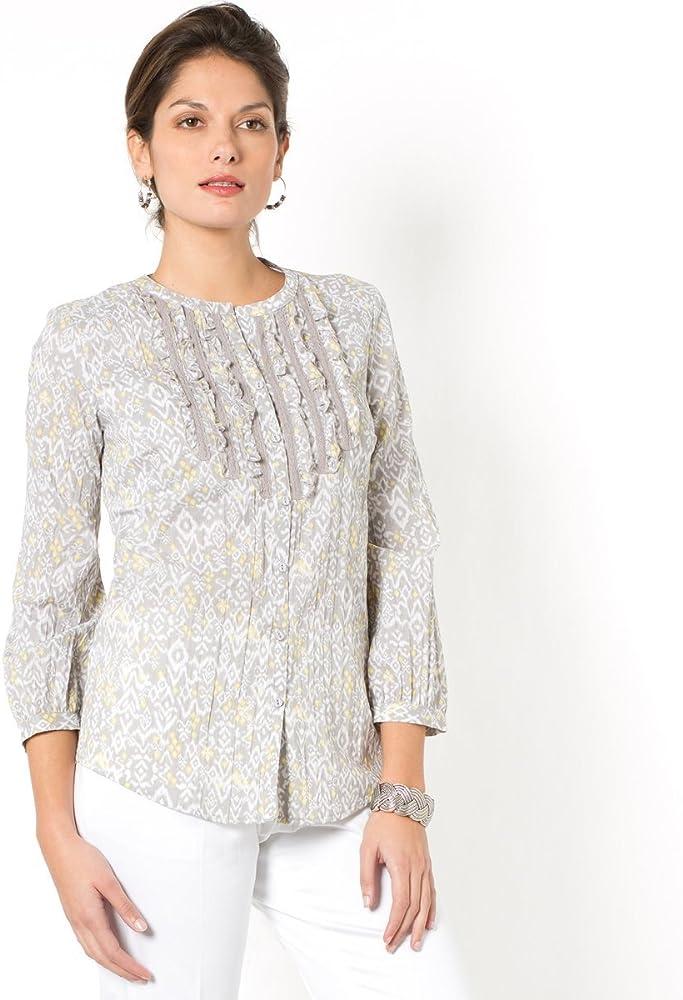 Anne para mujer Weyburn Set de blusa de cuello alto tipo libro con función de mezcla de algodón: Amazon.es: Ropa y accesorios